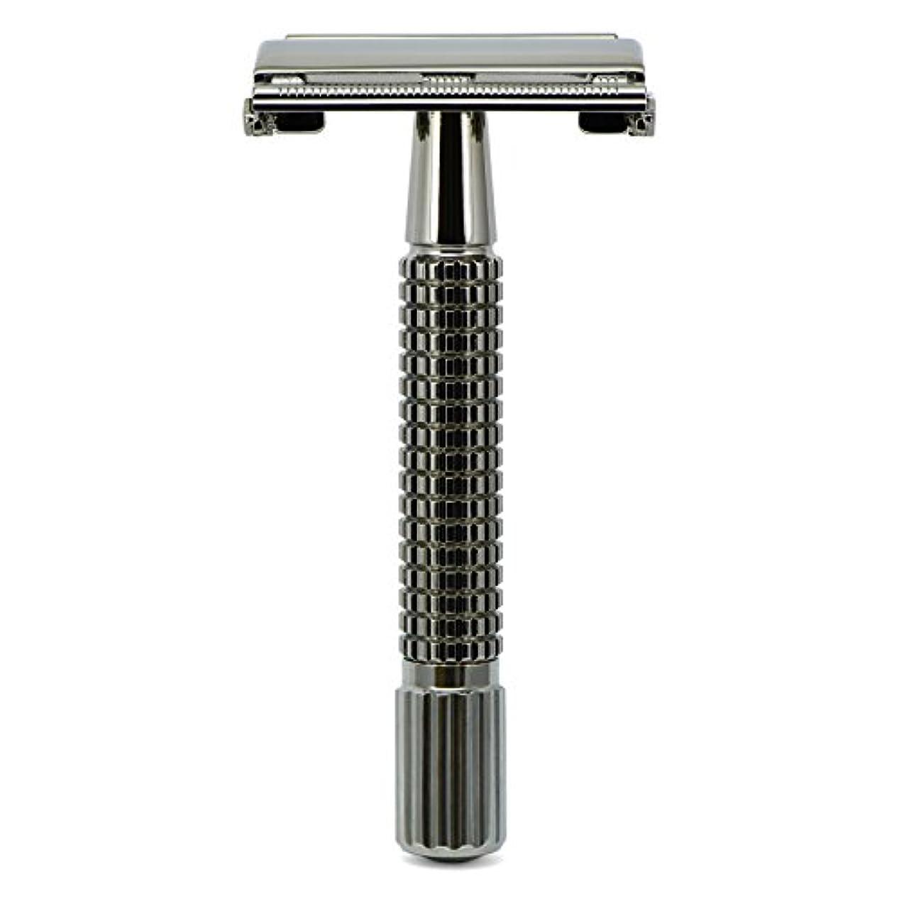 粘着性動くワイプG&F - Gentle Shaver Safety razor, Butterfly, black chrome, 8 cm