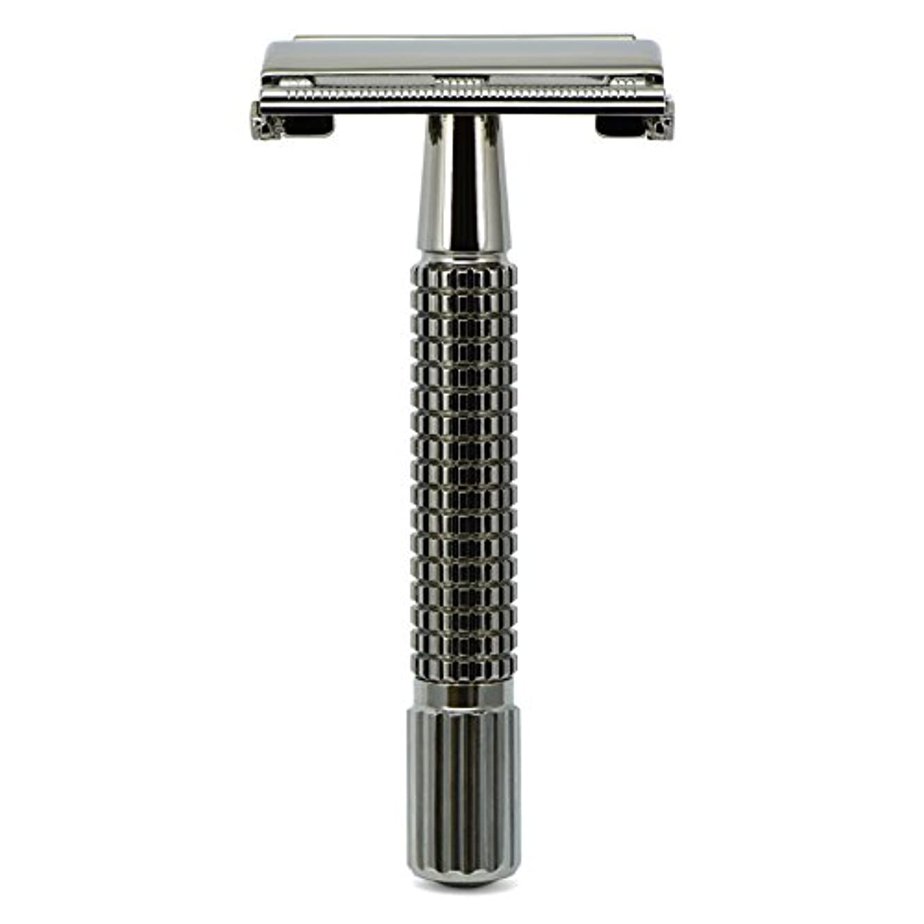 発明する同僚常習者G&F - Gentle Shaver Safety razor, Butterfly, black chrome, 8 cm