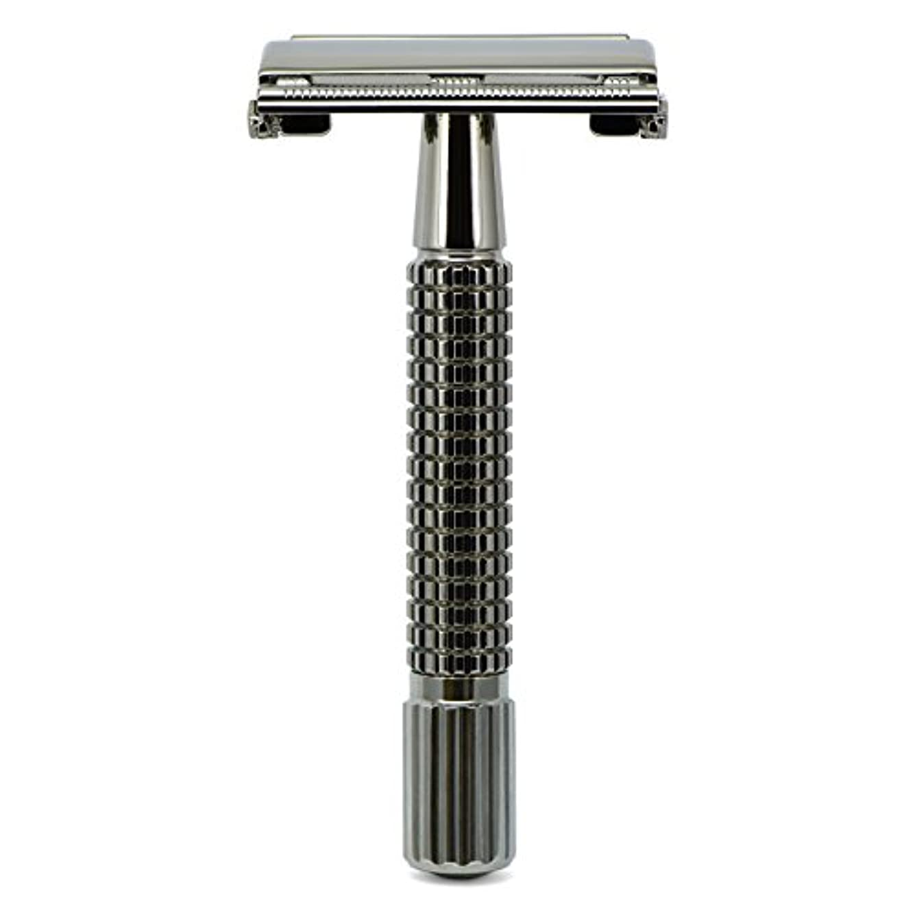 G&F - Gentle Shaver Safety razor, Butterfly, black chrome, 8 cm