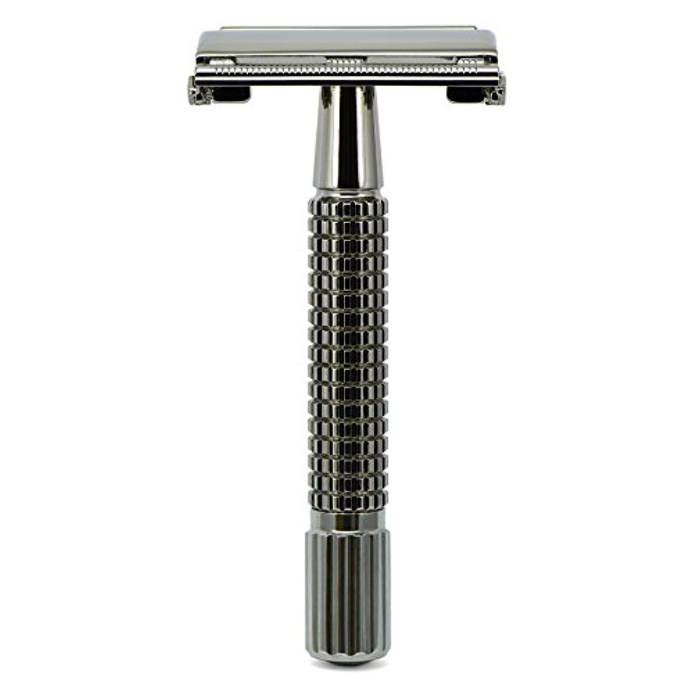 余計な相対的指紋G&F - Gentle Shaver Safety razor, Butterfly, black chrome, 8 cm