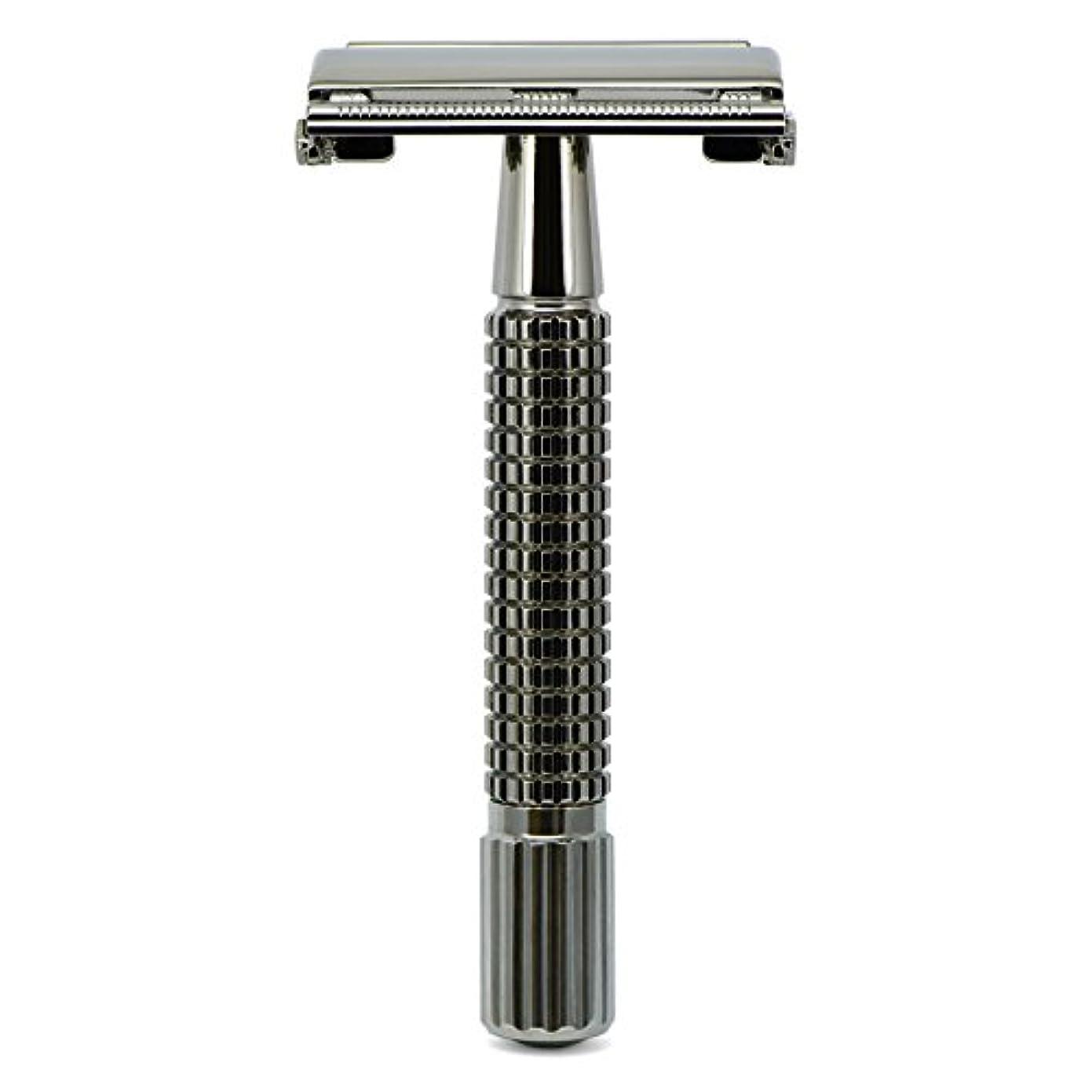 カップ植木散文G&F - Gentle Shaver Safety razor, Butterfly, black chrome, 8 cm