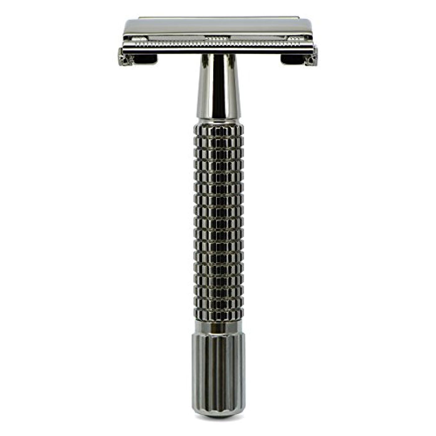 放棄襟ドームG&F - Gentle Shaver Safety razor, Butterfly, black chrome, 8 cm