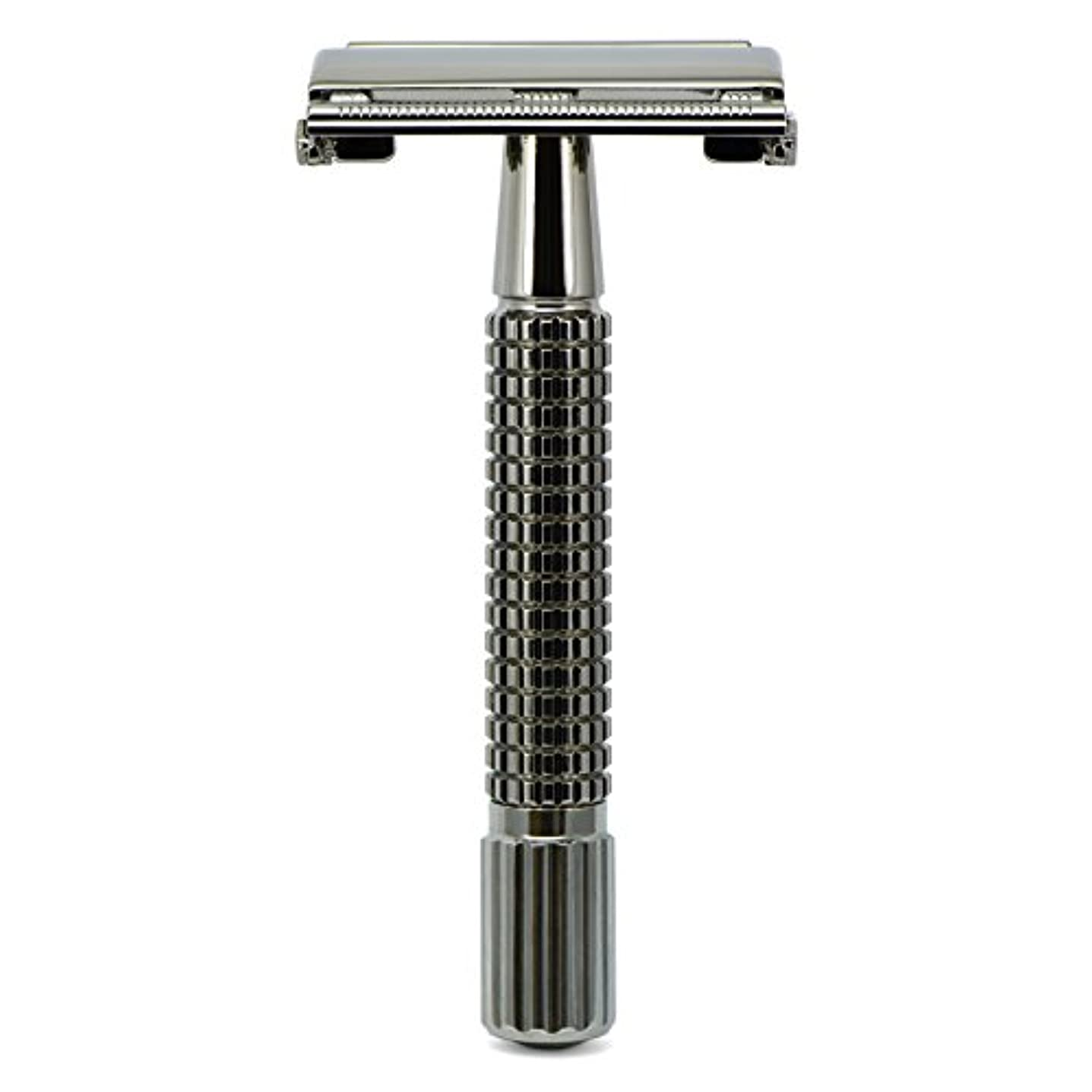 重量オーナー加入G&F - Gentle Shaver Safety razor, Butterfly, black chrome, 8 cm