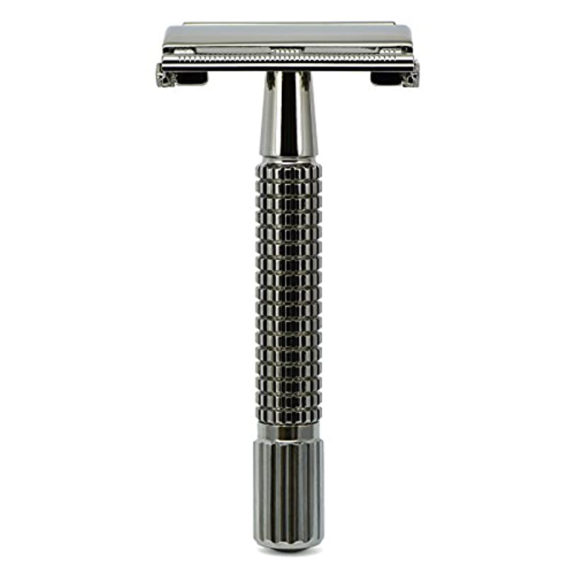 解決するレバー吸収G&F - Gentle Shaver Safety razor, Butterfly, black chrome, 8 cm