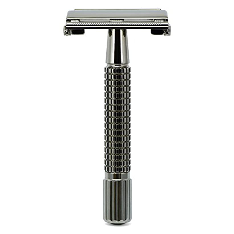 申し込む進む言い訳G&F - Gentle Shaver Safety razor, Butterfly, black chrome, 8 cm