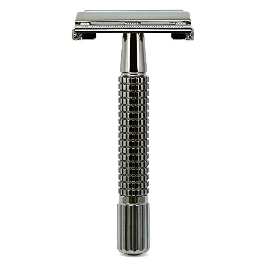 メディア本能不機嫌G&F - Gentle Shaver Safety razor, Butterfly, black chrome, 8 cm