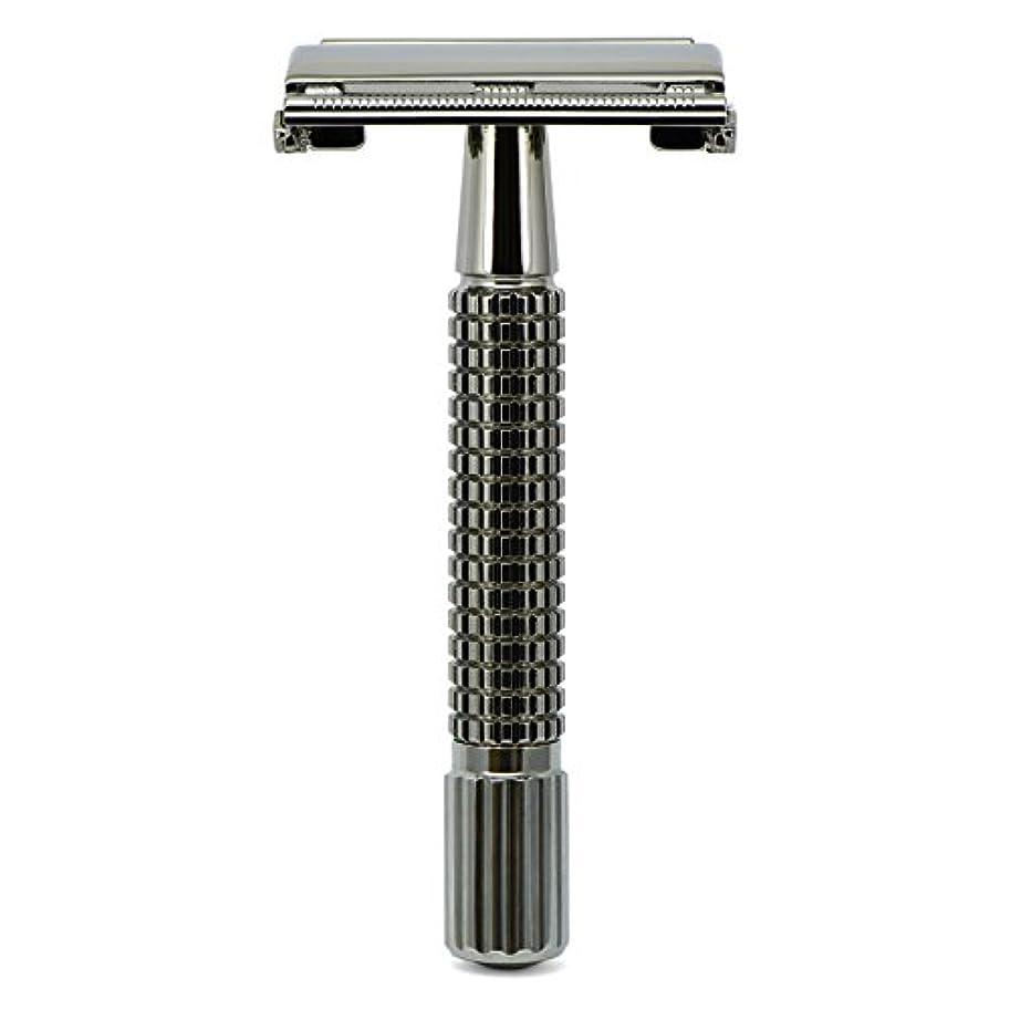 ピアノ句ほめるG&F - Gentle Shaver Safety razor, Butterfly, black chrome, 8 cm