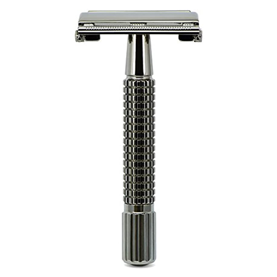 衝動ゼリー座るG&F - Gentle Shaver Safety razor, Butterfly, black chrome, 8 cm