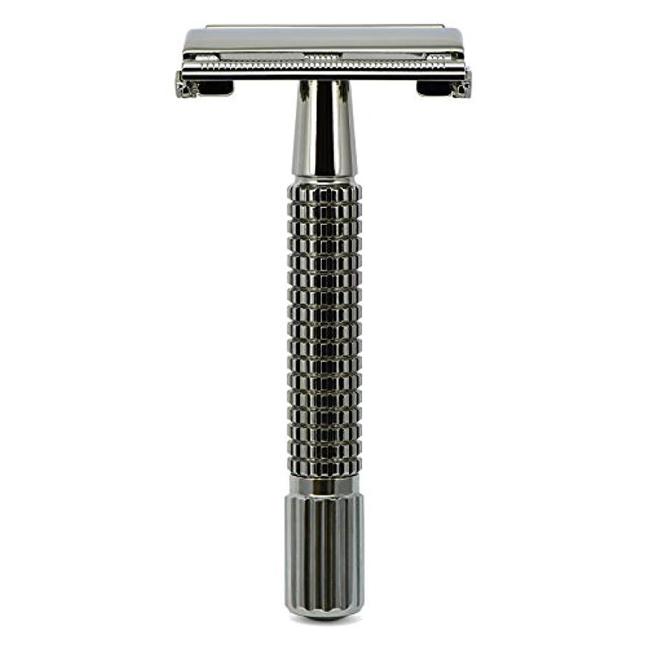 撃退するプーノ手荷物G&F - Gentle Shaver Safety razor, Butterfly, black chrome, 8 cm