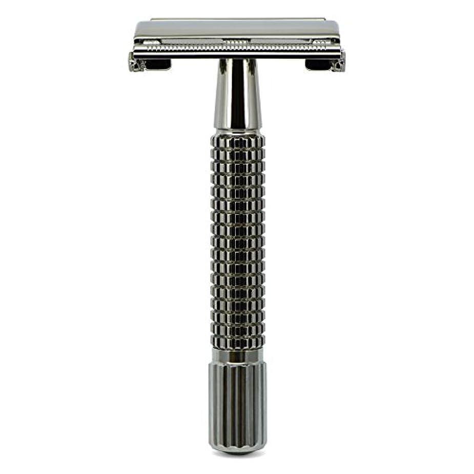 航海の宣言するインチG&F - Gentle Shaver Safety razor, Butterfly, black chrome, 8 cm