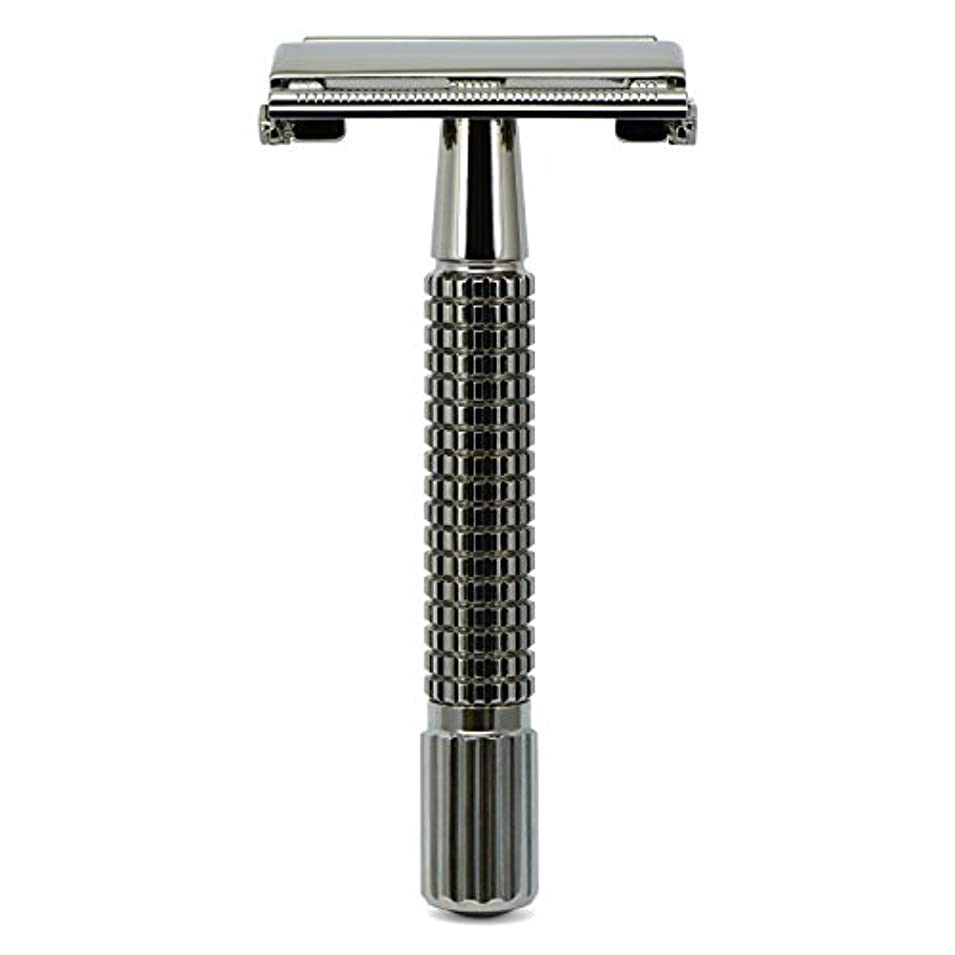 持続する幾何学ましいG&F - Gentle Shaver Safety razor, Butterfly, black chrome, 8 cm