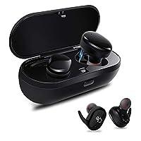 AONCO 完全ワイヤレス スポーツイヤホン IPX5防水 片耳 両耳とも対応 左右独立型 Bluetooth イヤホン マイク内蔵 ハンズフリー通話 小型 軽量 iPhone Android 対応 防汗防滴 (ブラック)