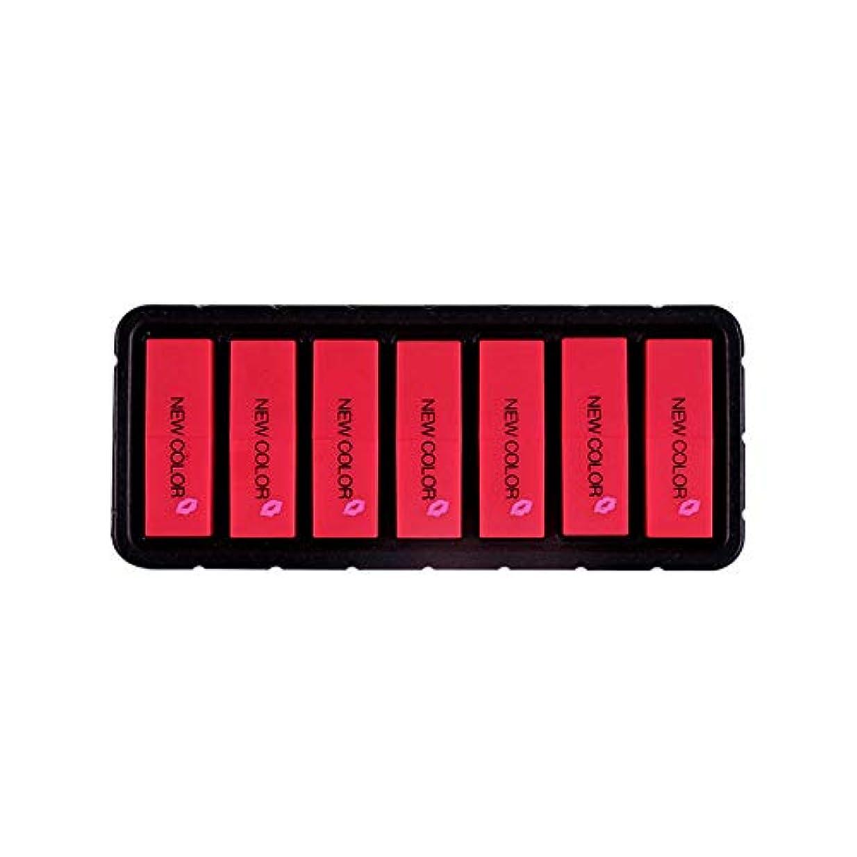 同級生速いアルバムEldori 2019 新作 リップスティック セット 7色 口紅 長続き防水リップ 化粧品 マット リップスティック セット 5本/セットコスプレ、ハロウィーン、クリスマスなどに兼用 カボチャの色 (O)