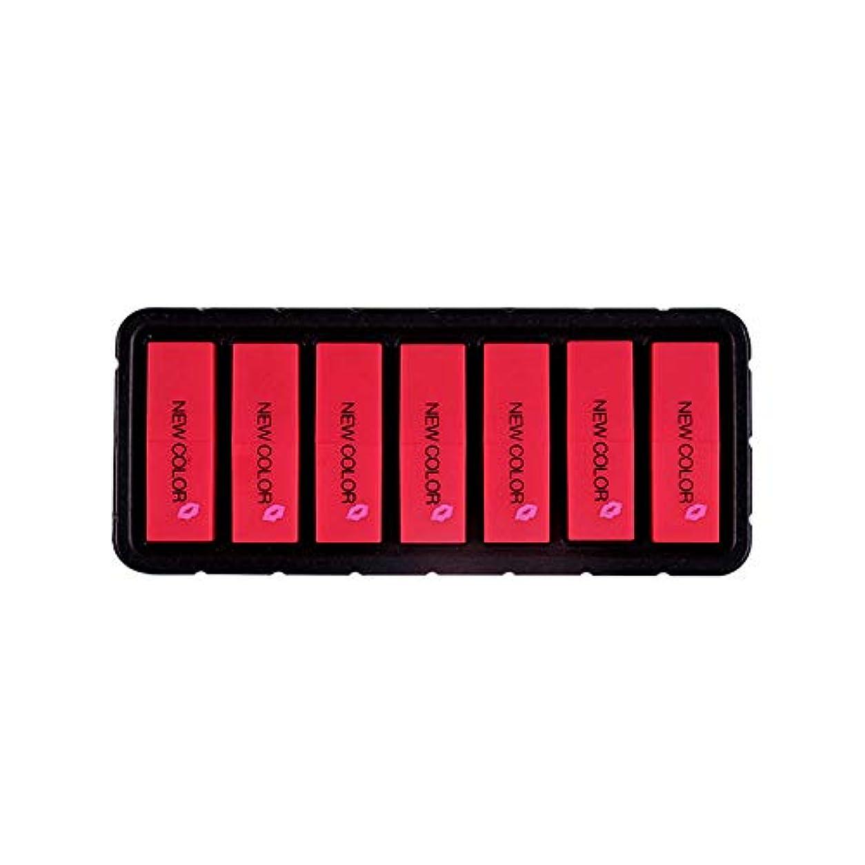 スリップ悪性のウェイターEldori 2019 新作 リップスティック セット 7色 口紅 長続き防水リップ 化粧品 マット リップスティック セット 5本/セットコスプレ、ハロウィーン、クリスマスなどに兼用 カボチャの色 (O)