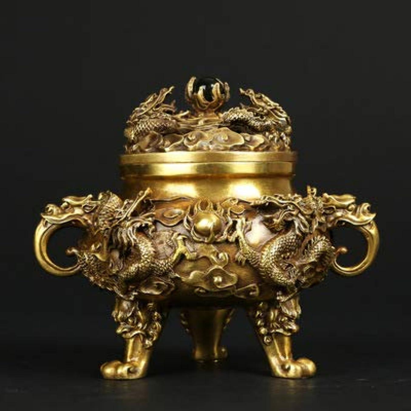 もっともらしい誰でも擬人化PHILOGOD 香炉 銅作るエンボスドラゴンプリント仏壇用 香立て 香皿