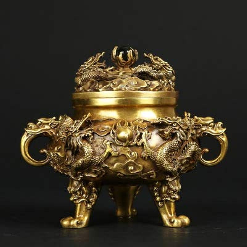 はげ高度セミナーPHILOGOD 香炉 銅作るエンボスドラゴンプリント仏壇用 香立て 香皿