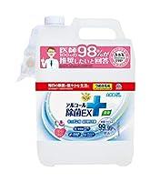 アース製薬 らくハピ アルコール除菌EX つめかえ 大容量 5L