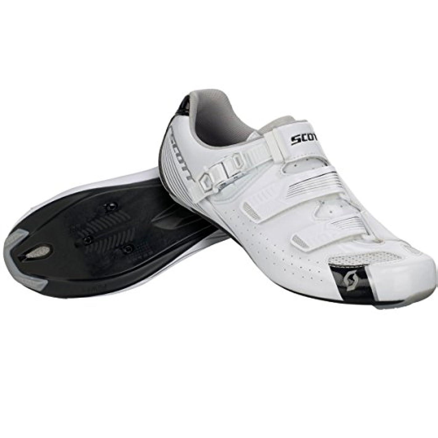 関数リースメロディアススコット?Road Pro Lady Shoe – Women 'sグロスホワイト/グロスブラック、39.0