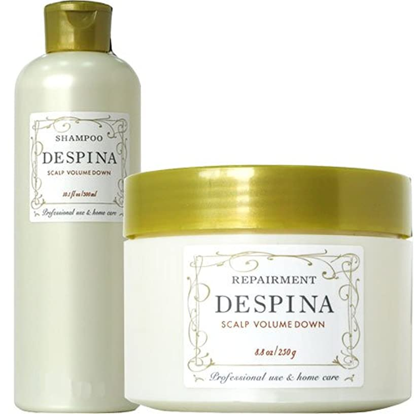 バター関係ないストレスの多いナカノ デスピナ  スキャルプ ボリュームダウン シャンプー300ml&リペアメント250gセット NAKANO DESPINA SCALP