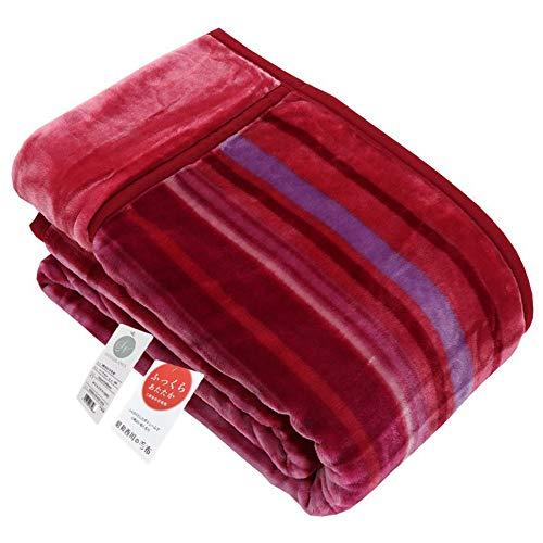 昭和西川 毛布 ピンク 140X200㎝ 暖ふわ2枚合わせ毛布 快眠のベストマッチ 肌触りなめらか毛布 昭和西川厳選企画