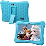 """Dragon Touch Kids Tablet, Y88X Plus Android 8.1 OS 7"""" IPS Display 1GB Ram 16GB ROM Kidoz & Google Play Pre-Installed with Kid-Proof Case - Blue"""
