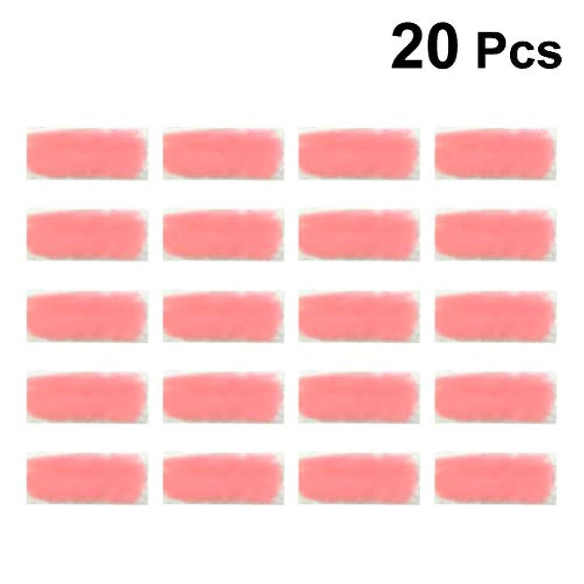 湿度ハムローストHealifty 夏の冷却ジェルパッチ温度変化熱射病防止冷却額ストリップ眠気さわやかさを和らげる日焼けパッド20個(ピンク)