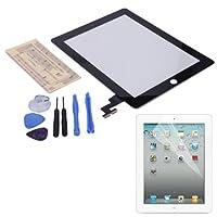 HDE iPad 2デジタイザタッチスクリーン交換パーツW / 7ピースツールキット、粘着テープ、スクリーンプロテクター HDE-*C297+X61