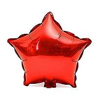 10個入り 18インチ ホイルスターバルーン 誕生日パーティー装飾 インフレータブルおもちゃ エアバルーン レッド