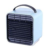 [Tienpy] ポータブルミニエアコンクーラーファン冷風扇 扇風機高品質usb 卓上 冷風機 3段階風量調節 冷却・加湿・空気清浄機 超静音作業 軽量 強風 (青)
