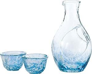 酒器 徳利 お猪口 セット 冷酒 ガラス(カラフェ 1個、グラス 2個) G604-M70