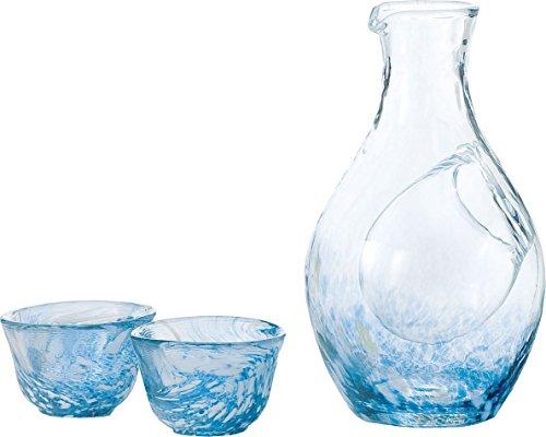 東洋佐々木ガラス 冷酒セット ブルー 冷酒カラフェ300ml...