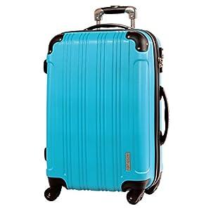 M型 ターコイズ / メッシュQueendom TSAロック搭載 スーツケース キャリーバッグ 中型 (3~5日用)