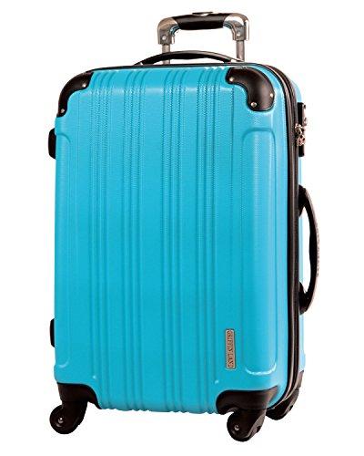 M(22)型 ターコイズ / メッシュQueendom TSAロック搭載 スーツケース キャリーバッグ 中型 (3~5日用)