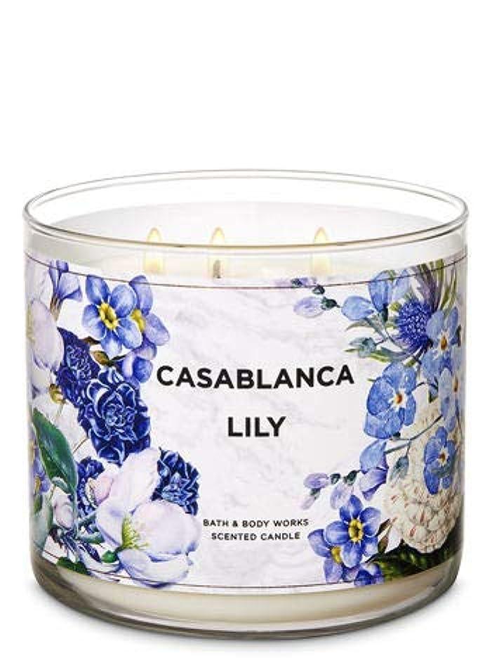 重要リスコードレス【Bath&Body Works/バス&ボディワークス】 アロマキャンドル カサブランカリリー 3-Wick Scented Candle Casablanca Lily 14.5oz/411g [並行輸入品]