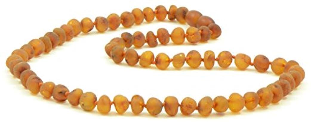 囲い非互換ジョイントRaw Amberネックレス大人用 – 18 – 21.6インチ – amberjewelry – Madeから未研磨/Authentic Baltic Amberビーズ 19.7 inches (50 cm) B01GFUTJAK