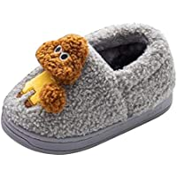 Fulision Winter Keep warm Boy Slippers Girl Home Child shoes