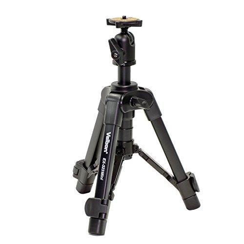 Velbon 卓上三脚 EX-323mini 2段 レバーロック 脚径17mm 小型 自由雲台 アルミ脚 301680