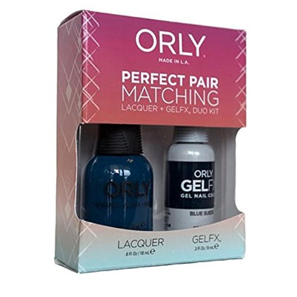 脅迫オーガニック散逸Orly - Perfect Pair Matching Lacquer+Gel FX Kit - Blue Suede - 0.6 oz/0.3 oz