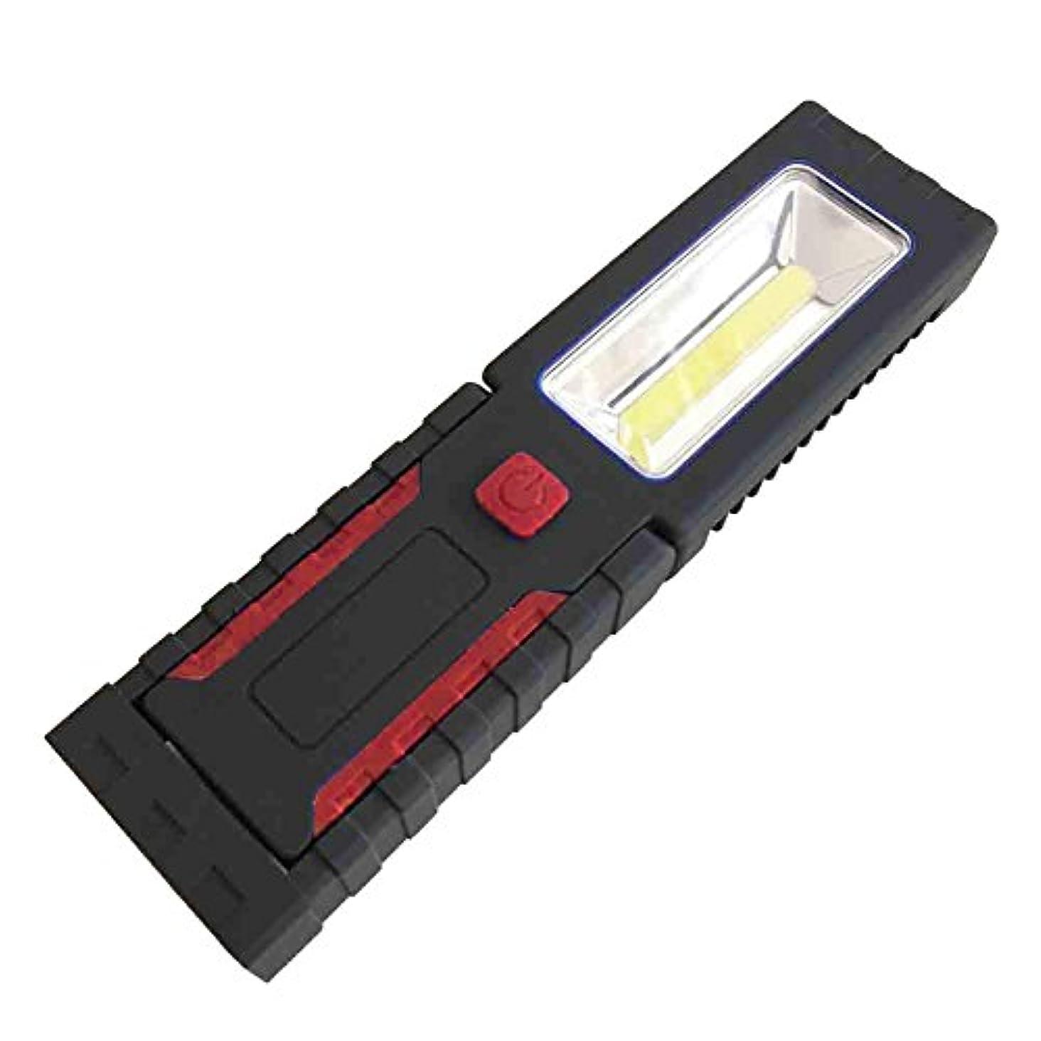 自動車ペデスタル例示するK-outdoor 懐中電灯 LED アウトドア ホーム メンテナンス 緊急ランプ 仕事ライト 防水