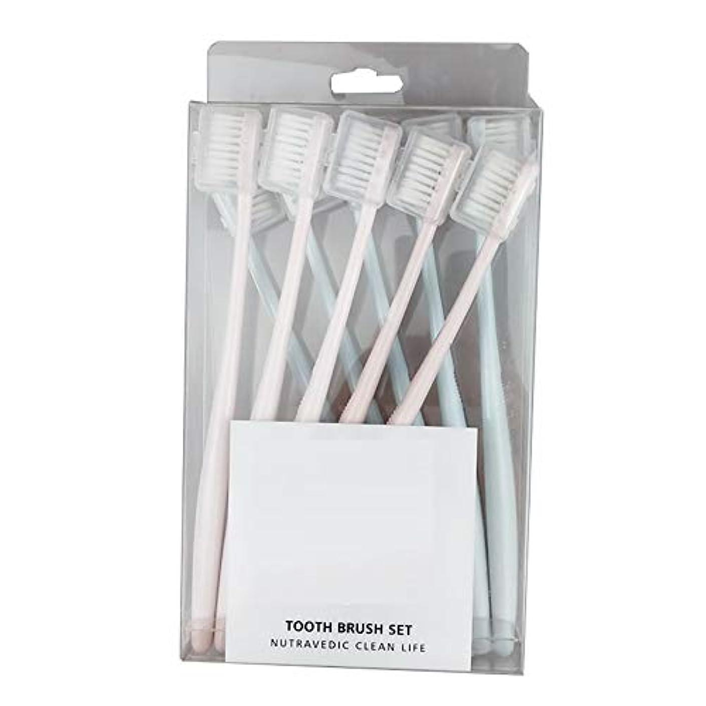 に話す額アルファベット歯ブラシ 竹炭歯ブラシ、アダルトソフト歯ブラシ、活性炭ホワイトニング - 使用できるスタイルの3種類 KHL (サイズ : A - 10 packs)