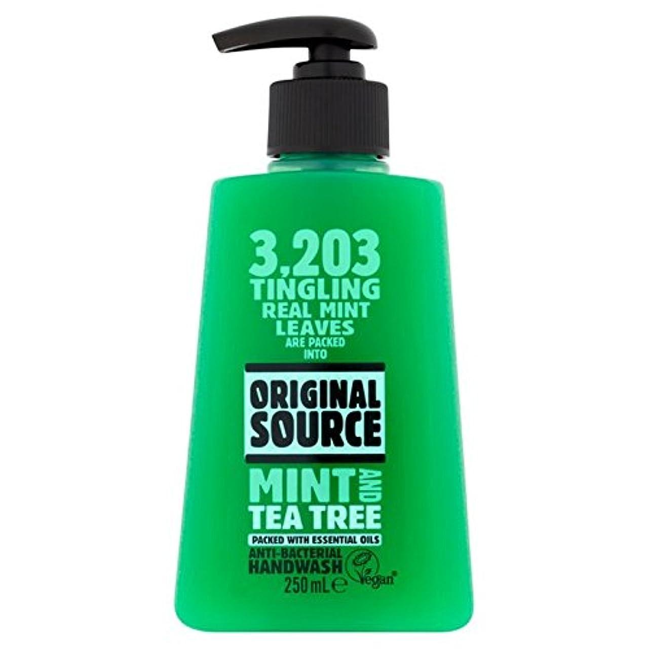 先駆者助手沿ってOriginal Source Handwash with Mint & Tea Tree 250ml - ミント&ティーツリー250ミリリットルと、元のソース手洗い [並行輸入品]
