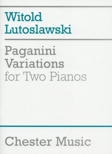 ルトスワフスキ: 2台のピアノのためのパガニーニの主題による...