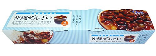 沖縄黒糖ぜんざい 360g(90g×4カップ)×20個(1ケース) MGあさひ 沖縄土産 タピオカ 押し麦入り