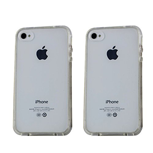 Hommy iPhone4 ケース / iPhone4S ケース に対応用 TPU クリア ソフト 衝撃吸収 落下防止 電波影響なし バンパーケース 保護カバー 携帯カバー 透明 1個入り