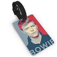 David Bowie デヴィッド ボウイ ラゲージタグ ネームタグ 旅行 スーツケースタグ 荷物タグ 搭乗の荷札 グリップ付き 旅行小物 目印 名札 トラベル 出張 旅行 紛失防止 5.4x8.5cm