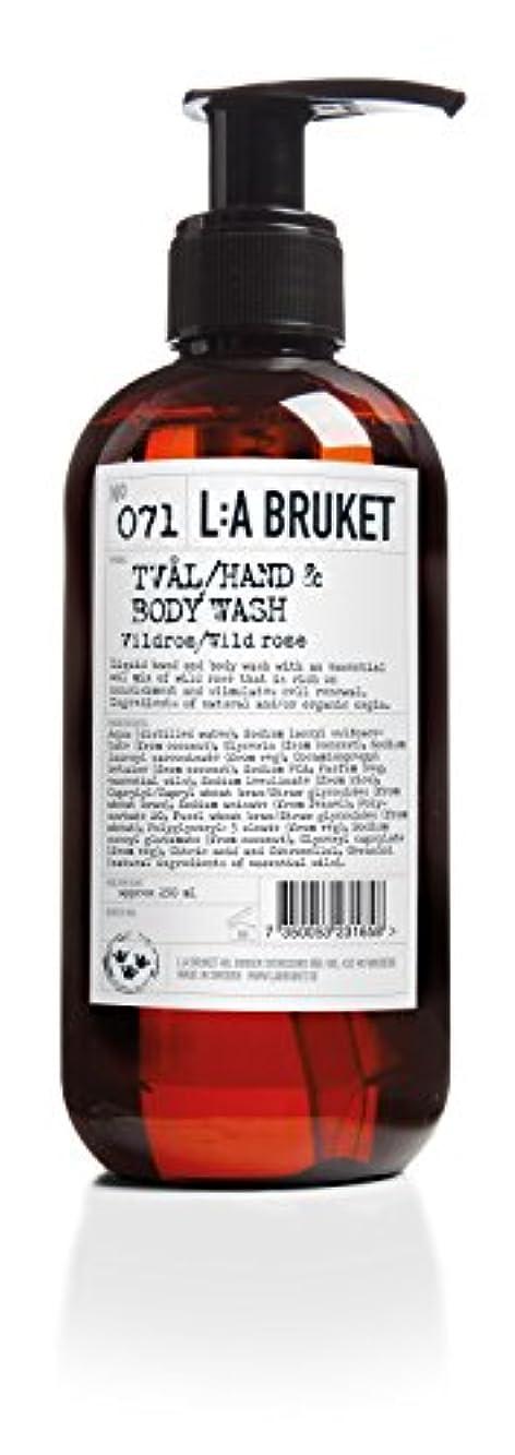 レコーダーかご浴L:a Bruket (ラ ブルケット) ハンド&ボディウォッシュ (ワイルドローズ) 450g