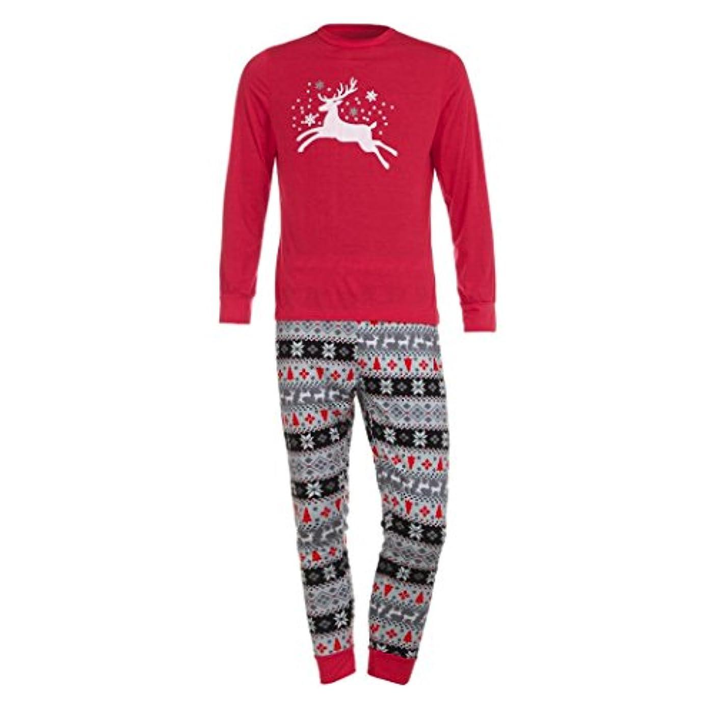 コショウ慣性引用ファミリMatchingパジャマセットクリスマス鹿Tシャツトップスブラウスパンツfor the Family (メンズ) L グレイ TZZ70703662