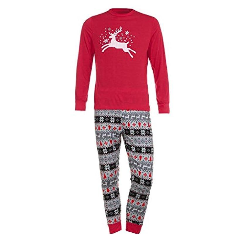 ファミリMatchingパジャマセットクリスマス鹿Tシャツトップスブラウスパンツfor the Family (メンズ) L グレイ TZZ70703662