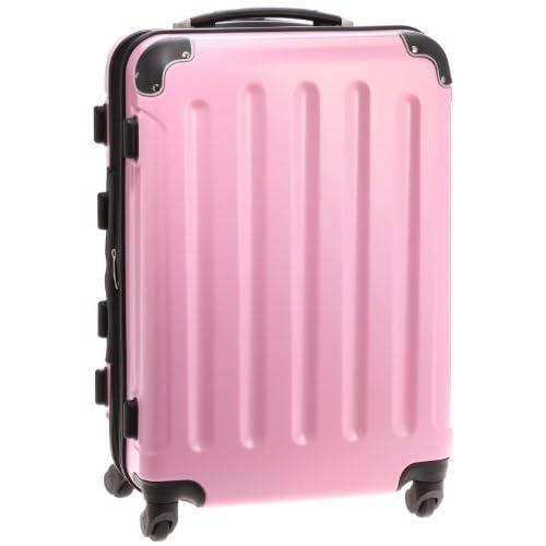(グラディス・トラベル)GladysTravel スーツケースM 拡張機能付ぎ ABS+ポリカーボネイト ライトピンク