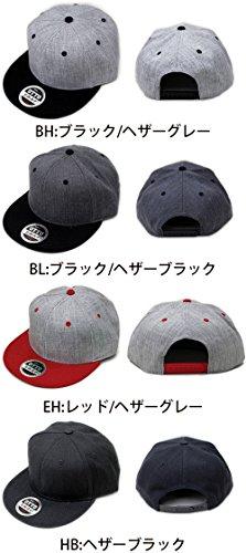 OTTO CAP/Heather Wool Blend Flat Visor Snapback Caps(オットーキャップ/ヘザーウールブレンドフラットバイザースナップバックキャップ) FREE(頭周り57.5cm-62cm) BL:ブラック/ヘザーブラック
